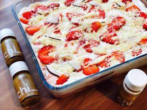 Erdbeer - Kokos Tiramisu mit Chi